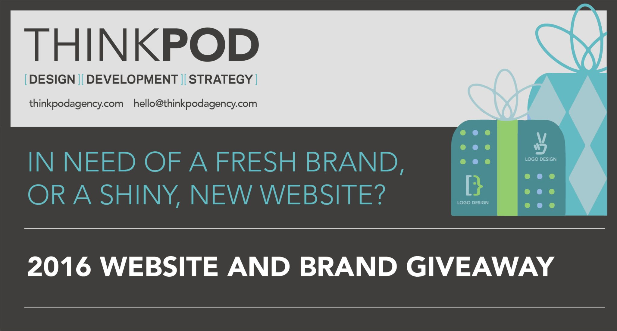 """Featured image for """"ThinkPod Agency 2016 Website and Brand Giveaway"""""""